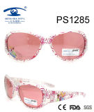 White Pink Colorful Catoon Flower Kid Plastic Sunglasses (PS1285)
