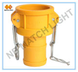 Nylon Coupler Type C with Grooved Hose Shank Camlock Quick Coupling