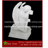 Marble Tombstone Granite Sculpture Kneeling Angel Monument