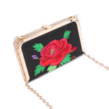 2016 Fashion Embroidery Flower Party Evening Bags Box Clutch Bag