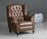 Chesterfield Queen Anne Wingback Arm Chair for Living Room (RF-5005)