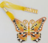 Metal Bookmark with Butterfly Shape (CXD-BM002)