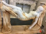 Natural Marble Carving Lady Sculpture Statue for Decoration