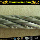 7x7 (WSC) Galvanised Steel Wire Rope (1770n/Mm2 Rhol;40m Long With a Heavy Duty Wire Rope Thimble at One End)