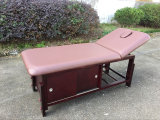 Stationary Massage Table with Cabinet and Beauty Bed