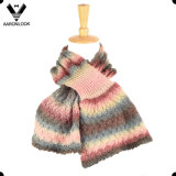 2017 Colorful Space Dyed Yarn Knitted Pattern Fashion Mermaid Shape Scarf