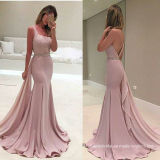 Pink Chiffon Formal Gowns Bridesmaid Party Prom Evening Dresses Z1003