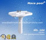 Bathroom Ceramic Wash Basin Pedestal Basin Fixing to Wall (104)