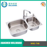 Modern Wb2-748 Top Mount Stainless Steel 304 Kitchen Basin