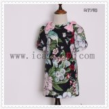 Elegant UK Style Classical Girls Dress Kids Clothes for Summer
