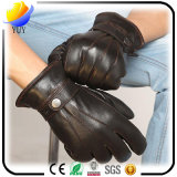 Autumn and Winter Warm Men with Velvet PU Imitation Leather Gloves