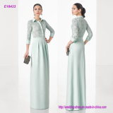 3/4 Sleeve Blouse Skirt and Lace Body Formal Evening Gown