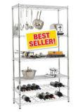Adjustable Chrome Multi-Function Metal Commercial Kitchen Wine Shelves