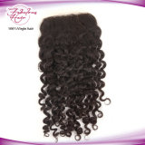 """Factory Hair Peruvian Lace Based 4"""" X 4"""" Curly Top Lace Closure Pieces"""