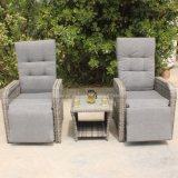 China Aluminum Frame PE Rattan Wicker Outdoor Garden Reclinable Furniture