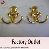 Zinc Alloy Beautiful Design Double Clothes and Cat Hooks (ZH-3002)