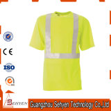 Fluorescent High Visibility Short Sleeves High Quality Reflective Safety Tshirts