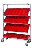 DIY Chrome Grocery Bin Storage Wire Shelving Rack with Wheels