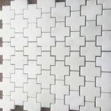 The Cross Shape Oriental White Marble Floor Marble Mosaic Tile