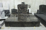European/Russian/American Style Granite Tombstone with Custom Design