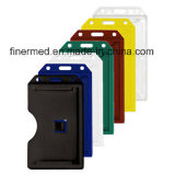 Vertical Portrait Double Sided Plastic ID Card Holder