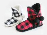 Indoor Lattice Winter Soft Snow Boots for Children