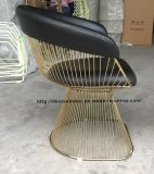 Metal Leisure Dining Restaurant Cushion Outdoor Steel Wire Chair