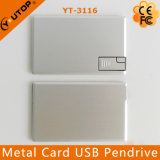 Slim Aluminium Metal Credit Card Pendrive Flash USB (YT-3116)