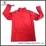 Mens Red Lightweight Fleece Pullover Waterproof Breathable Softshell Jacket