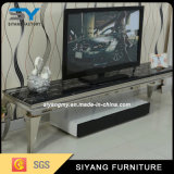White Modern Stainless Steel TV Stand