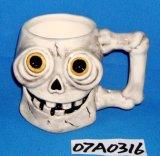 Ceramic Skull Coffee Mug for Halloween Decoration