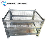 Foldable Storage Rigid Steel Welded Pallet Cage by Galvanized