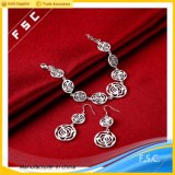 2017 Hot Selling Silver Plated Fashion Party Jewelry Set