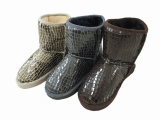 Winter Nice Sparkling Crystal Snow Boots for Girls Child Outdoor