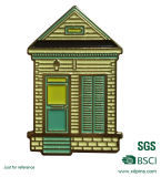 Building House Design Custom Made Metal Pin Badge with BSCI
