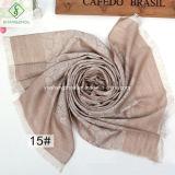Multicolor Rose Fringed Shawl Fashion Lady Silk Scarf
