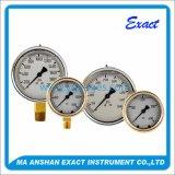 All Stainless Steel Dial Liquid Filled Air Pressure Gauge