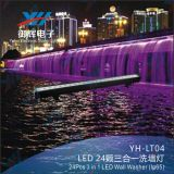 Waterproof 24PCS RGB 3 in 1 LED Wall Washer Light