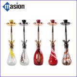 Zinc Alloy Stem Glass Vase Glass Hookah (Amy Hookah)