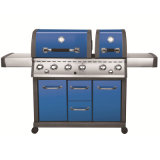 ETL/Ce/Sai Certificated 6burner Outdoor Gas BBQ Grill Barbecue Smoker