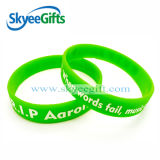 Custome Made 1/2 Inch Green Silicone Bracelets