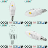 4W CREE Chip E14 Dimmable Scob LED Candle Lamp (LS-B304-CWWD/CWD)