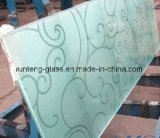 4-12mm Silkscreen Print/Frosting/Acid Etch Pattern Glass