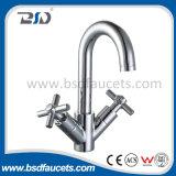 Twin Lever Swivel Spout Chrome Faucet Kitchen Sink Basin Mixer
