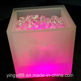 New LED Ice Bucket Double RGB Color Layer Square Bar KTV Beer Ice Bucket