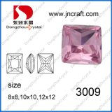 Mixed Color Square Silver Foiling Point Back Crystal Rhinestones Fancy Stone