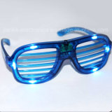 2015 Blue LED Light Blinking Glasses Wtih Logo Print (4039)