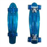 22inch PP Mini Skateboard Cruiser Complete Skateboards Banana Skateboard Clear Blue-35