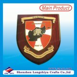 Wood Shield Trophy Plaque Color Printing for Commander of Afghanistan