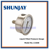 Oil All Ss Liquid Rolling Ring Liquid Filled Pressure Gauge